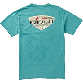 HONOLUA SURF CLOTHING VINTAGE SHIELD SHORT SLEEVE TEE SEAFOAM