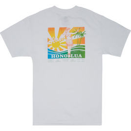 HONOLUA SURF CLOTHING HULA SUNRISE SHORT SLEEVE TEE WHITE