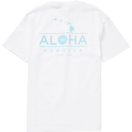 HONOLUA SURF CLOTHING ALOHA CHAIN SHORT SLEEVE TEE WHITE