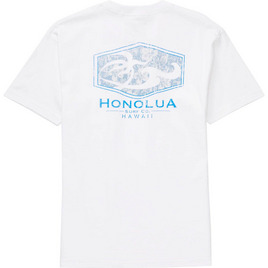 HONOLUA SURF CLOTHING ALOHA STATION SHORT SLEEVE TEE WHITE