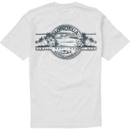 HONOLUA SURF CLOTHING AUTHENTIC LABEL SS TEE ASH