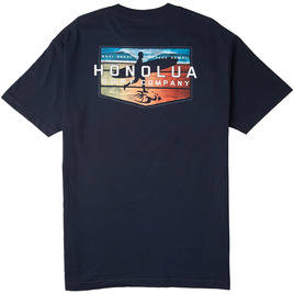 HONOLUA SURF CLOTHING EVENING SESSION TEE NAVY