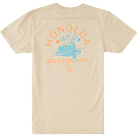 HONOLUA SURF CLOTHING TURTLE ISLAND SHORT SLEEVE TEE NATURAL