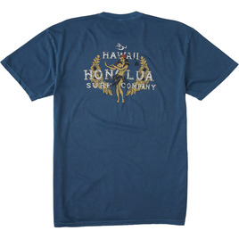HONOLUA SURF CLOTHING VINTAGE HULA SHORT SLEEVE TEE DENIM