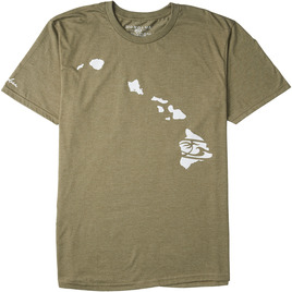 HONOLUA SURF CLOTHING LINK HAWAII SHORT SLEEVE TEE MILITARY