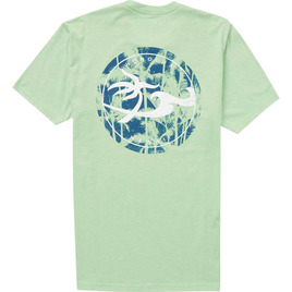 HONOLUA SURF MENS-HAWAIIAN-CLOTHING MOONLIGHT TEE APPLE GREEN