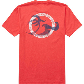 HONOLUA SURF CLOTHING TUBES TEE RED