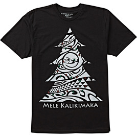 HONOLUA SURF CLOTHING MEN'S KALIKIMAKA TEE BLACK
