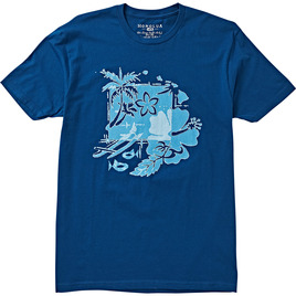 HONOLUA SURF CLOTHING OUTRIGGER SHORT SLEEVE TEE BLUE