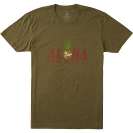 HONOLUA SURF CLOTHING PINE SQUARED SHORT SLEEVE TEE MILITARY