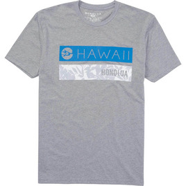 HONOLUA SURF CLOTHING PARALLEL HAWAII TEE DARK GREY HEATHER