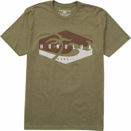 HONOLUA SURF CLOTHING CORNERS TEE MILITARY