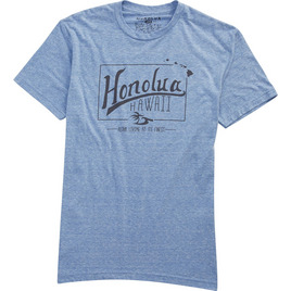 HONOLUA SURF CLOTHING LIFETIME SHORT SLEEVE TEE LIGHT BLUE