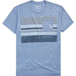 HONOLUA HAWAIIAN (PRODUCT URL BUG) POCKET BLOCK TEE LIGHT BLUE