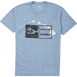 HONOLUA SURF CLOTHING DOUBLE DOUBLE HAWAII SHORT SLEEVE TEE LIGHT BLUE