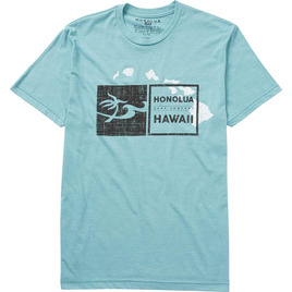 HONOLUA SURF CLOTHING DOUBLE DOUBLE HAWAII TEE TEAL