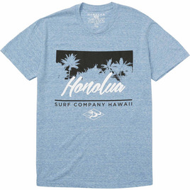 HONOLUA SURF CLOTHING SKYLINE SHORT SLEEVE TEE LIGHT BLUE