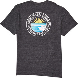 HONOLUA SURF CLOTHING BAY LINE SS TEE BLACK HEATHER