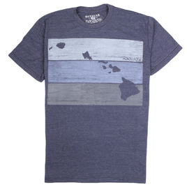 HONOLUA SURF CLOTHING BLOCK HEAD HAWAII SHORT SLEEVE TEE MIDNIGHT