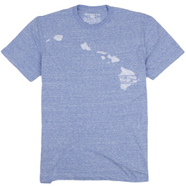 HONOLUA SURF CLOTHING MALACHI HAWAII SHORT SLEEVE TEE LIGHT BLUE