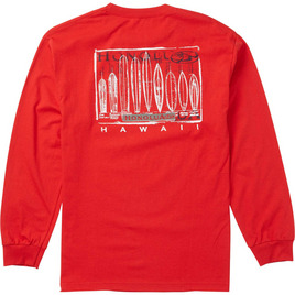 HONOLUA - LONG SLEEVE TEES EVOLUTION LONG SLEEVE TEE RED