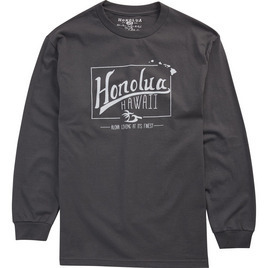 HONOLUA - LONG SLEEVE TEES LIFETIME LONG SLEEVE TEE CHARCOAL