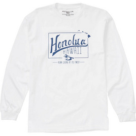 HONOLUA - LONG SLEEVE TEES LIFETIME LONG SLEEVE TEE WHITE