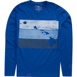 HONOLUA MENS-HAWAIIAN-TEES BLOCKHEAD LONG SLEEVE TEE ROYAL HORIZON