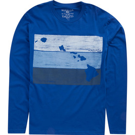 HONOLUA SURF MENS-HAWAIIAN-CLOTHING BLOCKHEAD LONG SLEEVE TEE ROYAL HORIZON