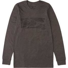 HONOLUA SURF CLOTHING KO-UHI KONA LONG SLEEVE TEE CARBON