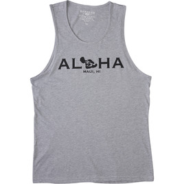 HONOLUA SURF CLOTHING GO TO MAUI TANK HEATHER GREY