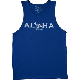 HONOLUA SURF CLOTHING GO TO MAUI TANK ROYAL HEATHER