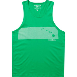 HONOLUA SURF CLOTHING STRIPE COMP TANK GREEN