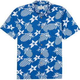 HONOLUA SURF - SHIRTS & POLOS PINEAPPLES HAWAIIAN SHIRT ROYAL