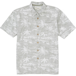 HONOLUA SURF - SHIRTS & POLOS ISLAND STYLE HAWAIIAN BUTTON DOWN SHIRT GREY