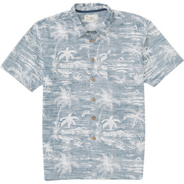 HONOLUA SURF - SHIRTS & POLOS ISLAND STYLE HAWAIIAN BUTTON DOWN SHIRT NAVY