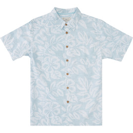 HONOLUA SURF - SHIRTS & POLOS FAUNA HAWAIIAN BUTTON DOWN SHIRT LIGHT BLUE