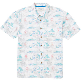 HONOLUA SURF - SHIRTS & POLOS VACATION STYLE ALOHA SHIRT WHITE