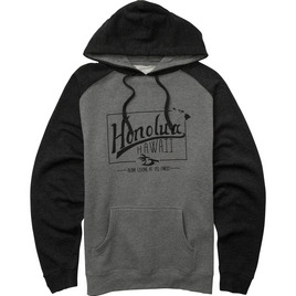 HONOLUA HAWAIIAN (PRODUCT URL BUG) LIFETIME PULLOVER FLEECE CHARCOAL HEATHER
