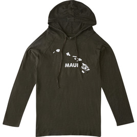 HONOLUA SURF CLOTHING MAUI PULLOVER T-SHIRT HOODIE MOSS