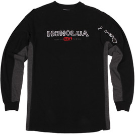 HONOLUA - FLEECE & HOODIES SIDESEAMS LONG SLEEVE TEE BLACK