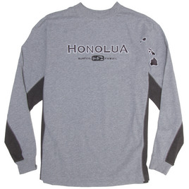 HONOLUA - FLEECE & HOODIES SIDESEAMS LONG SLEEVE TEE GREY