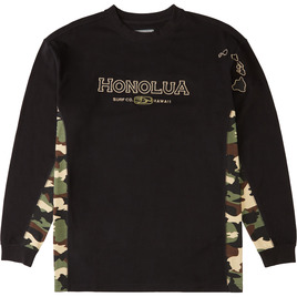 HONOLUA SURF CLOTHING SIDESEAMS LONG SLEEVE CAMOFLAUGE