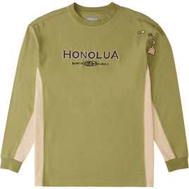 HONOLUA SURF CLOTHING SIDESEAMS LONG SLEEVE MILITARY