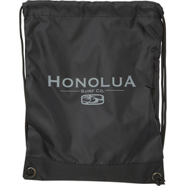 HONOLUA HAWAIIAN CORPORATE CINCH BAG BLACK