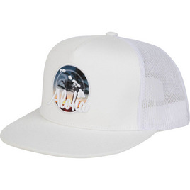 HONOLUA HAWAIIAN ALOHA PALMS HAT WHITE