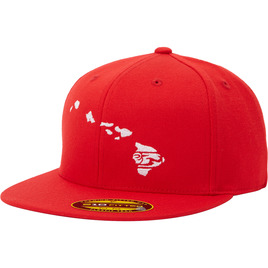 HONOLUA - HATS LINK FLEXFIT HAWAII HAT RED