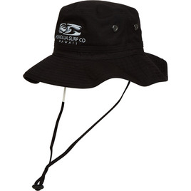 HONOLUA SURF MENS-HAWAIIAN-HATS WATERMAN HAT BLACK