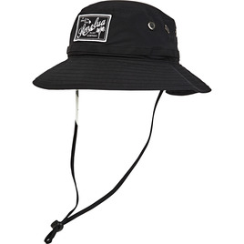 HONOLUA HAWAIIAN SAFARI RECTANGLE HAT BLACK