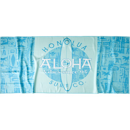 HONOLUA SURF MENS-HAWAIIAN-ACCESSORIES TAPA BOARD TOWEL MINT